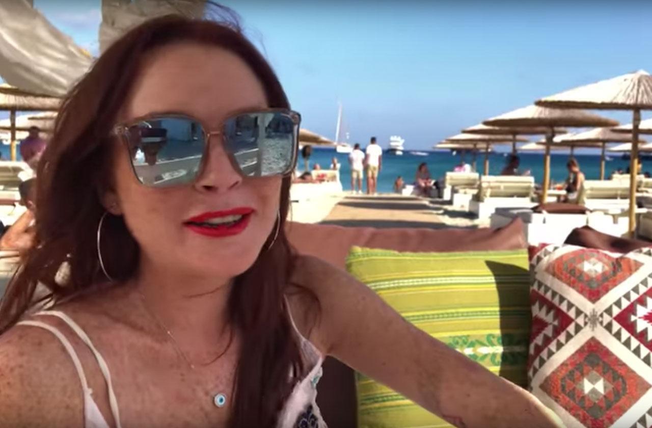 Lindsay lohan Mykonos Greece resort lohan beach house bad reviews