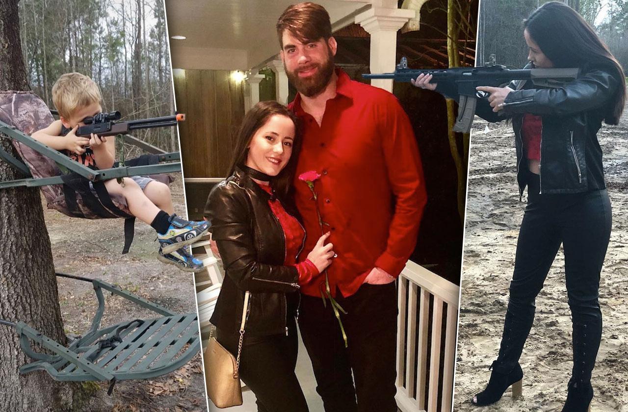 //jenelle evans son holding gun david eason fired teen mom  pp