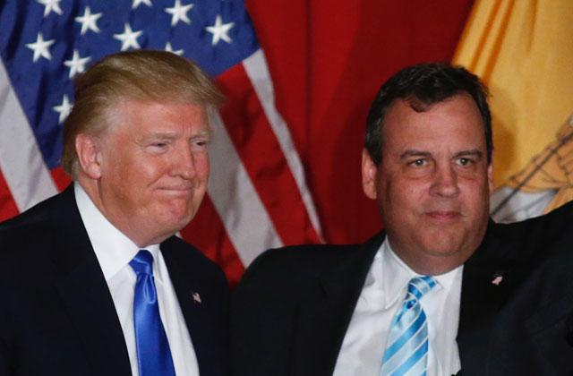 chris christie donald trump vice president candidate grooms governer