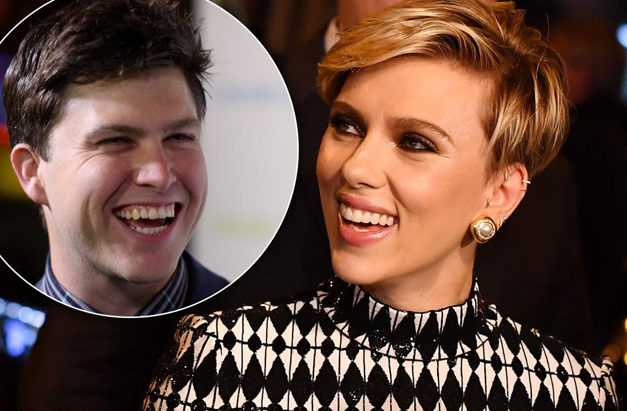 //scarlett johansson snl colin jost dating rumors pp