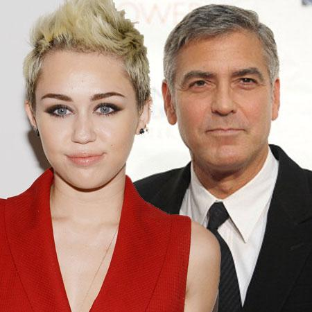 //george clooney and miley cyrus pp