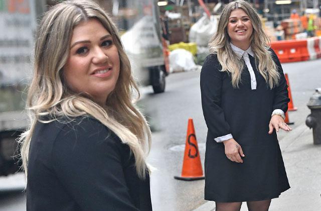 Kelly Clarkson Post Baby Body Black Dress