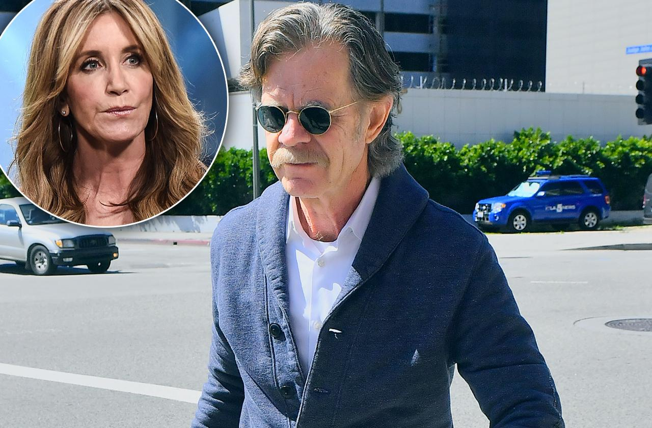 felicity huffman husband William H Macy appears court college cheating scandal