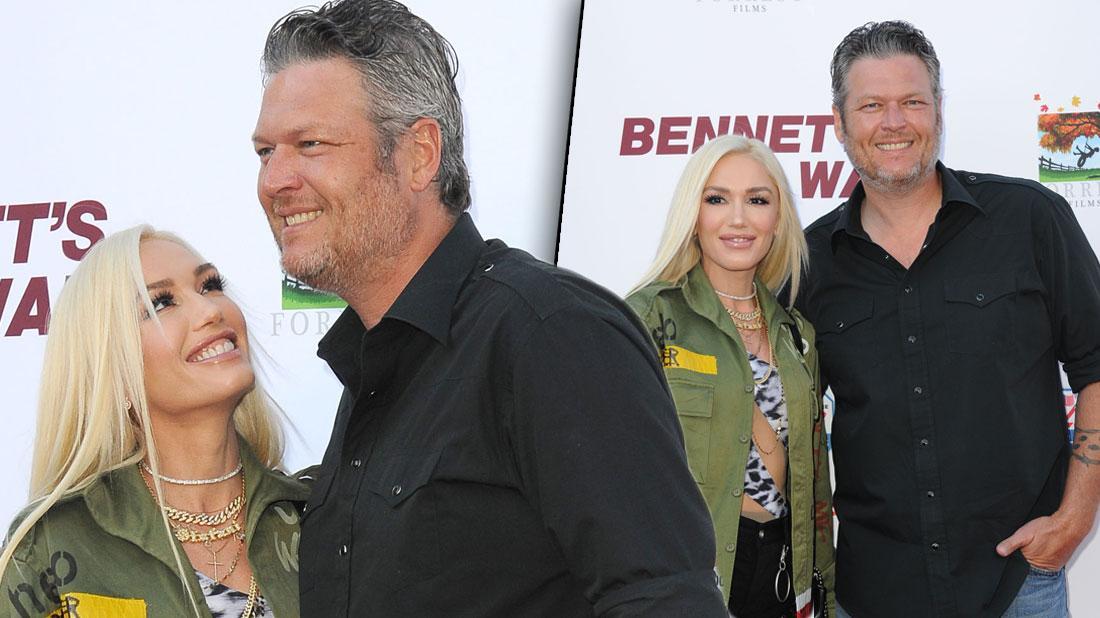 Gwen Stefani & Blake Shelton PDA At Premiere Amid Marriage Rumors