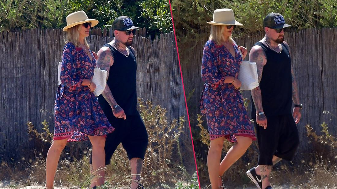 Cameron Diaz and Benji Madden strolling during holiday in St Tropez.