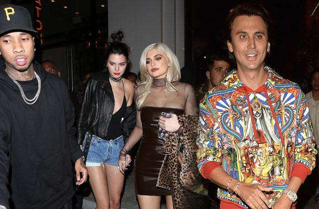 //kylie jenner kendall jenner jonathan cheban partying los angeles pp