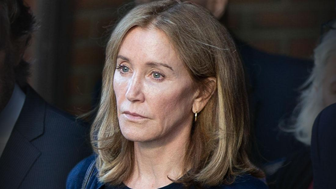 Sad And Forlorn Looking Felicity Huffman Coming Out of Court