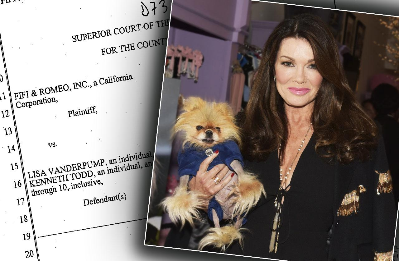 lisa vanderpump sued dog clothes giggy
