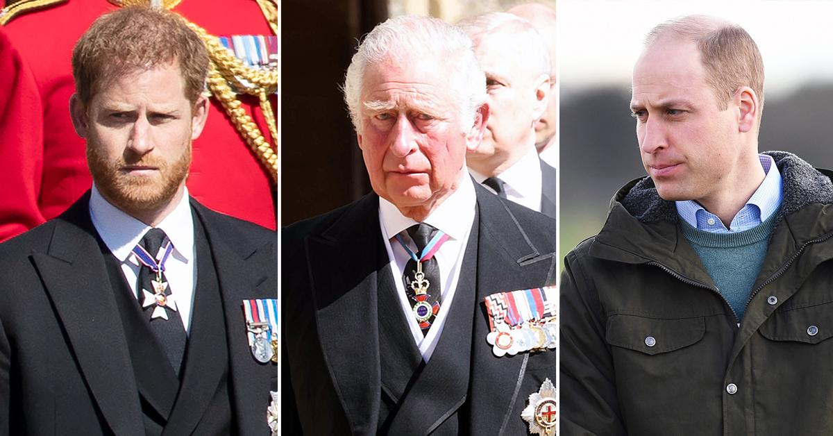 prince harry ambushed charles william unproductive meeting philip funeral r