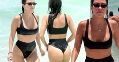 Kourtney Kardashian Bikini Wedgie Camel Toe Pics