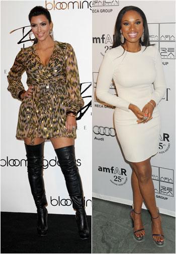 //kim kardashian jennifer hudson curves shape magazine