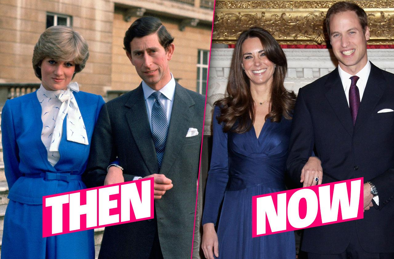 British Royalty Then and Now