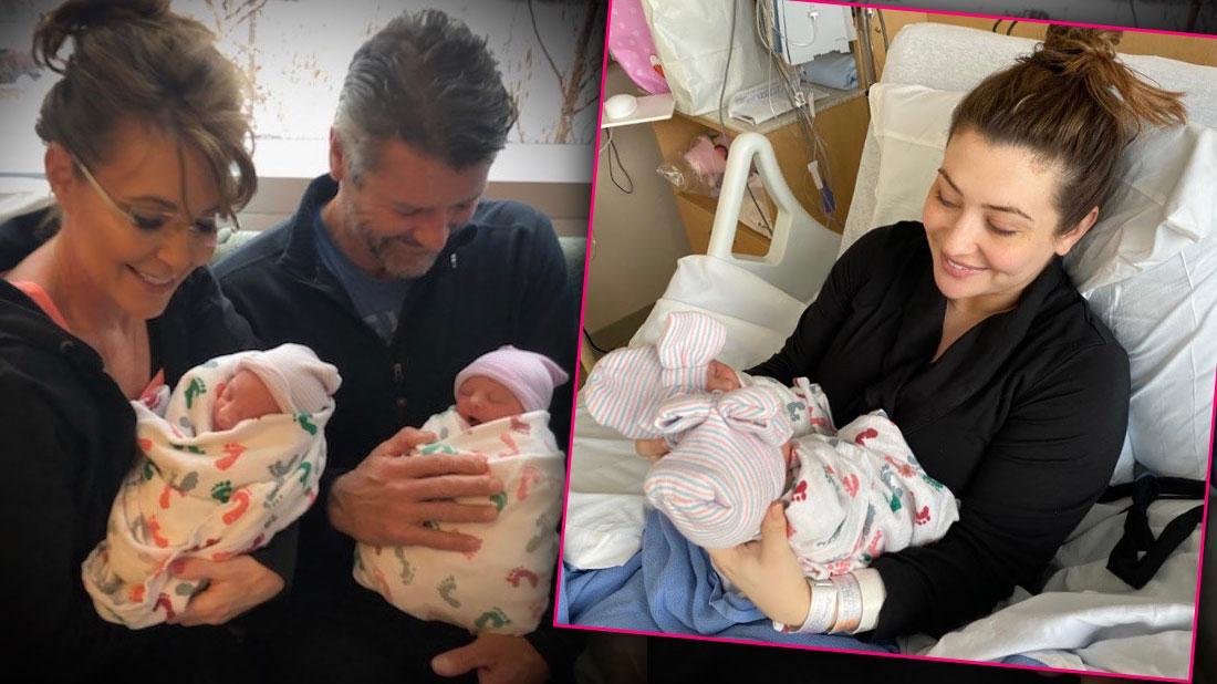 Sarah Palin & Todd Reunite Amid Divorce For Willow's Twins' Birth