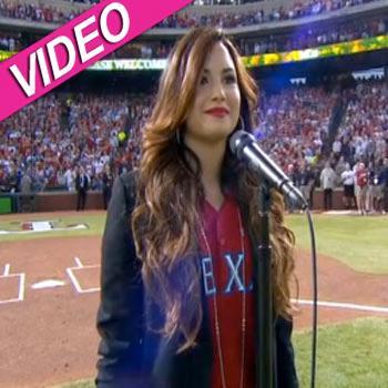 //demi lovato national anthem video world series