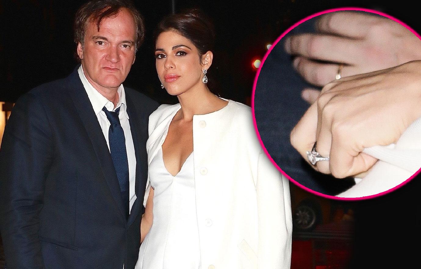 Quentin Tarantino Daniela Pick Engagement Dinner Uma Thurman Bruce Willis