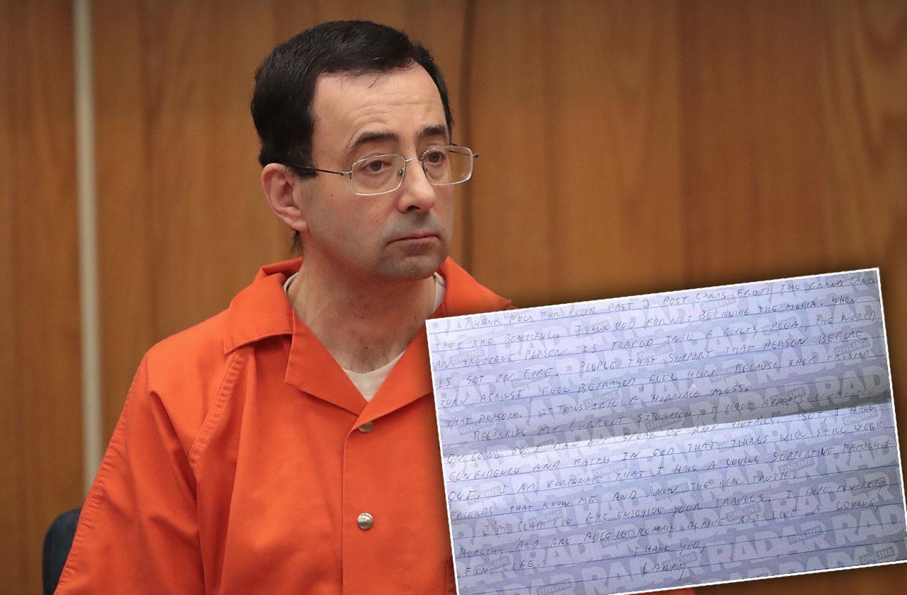 Larry Nassar Claims Innocence Letter