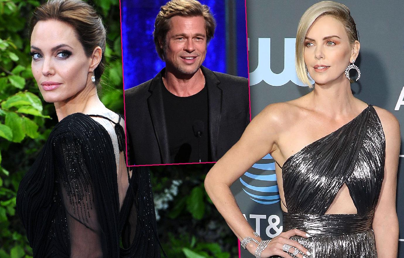 Brad Pitt New Love Charlize Theron Feud With Angelina Jolie