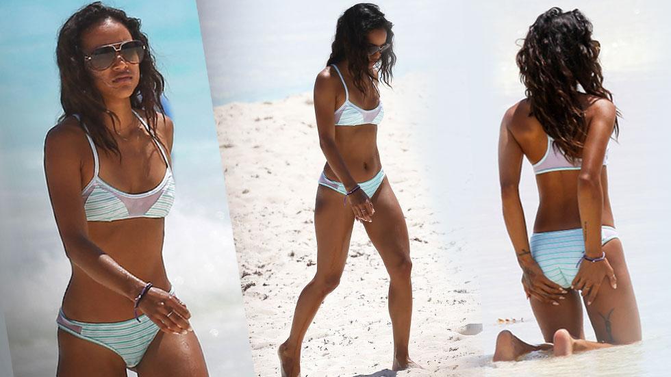 Karrueche Tran Bikini Photos Cancun Vacation