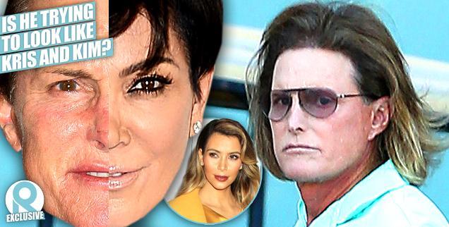//bruce jenner looking like kris kim kardashian plastic surgery wide