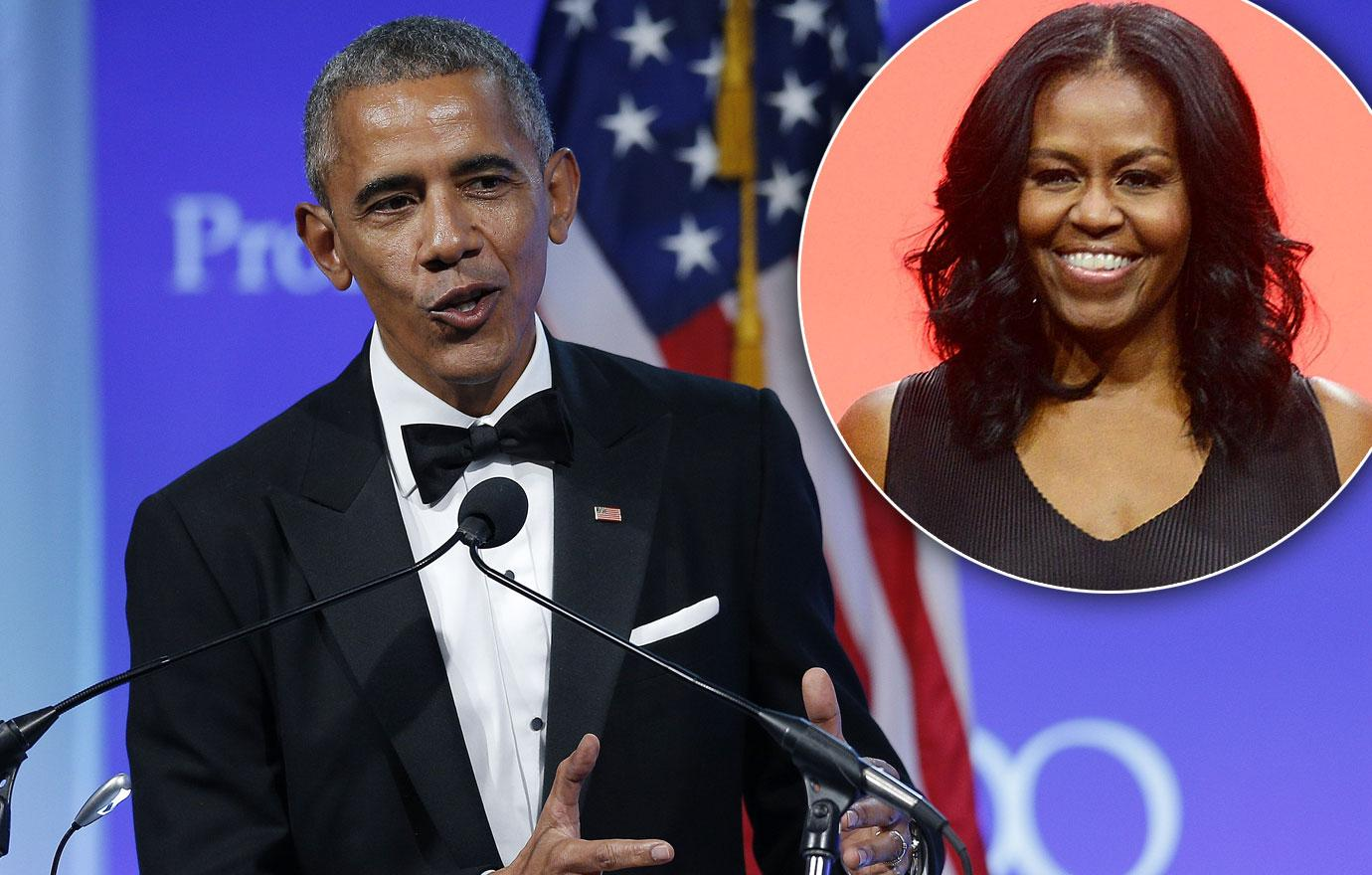Barack Obama Thanks Michelle For Sticking With Him.