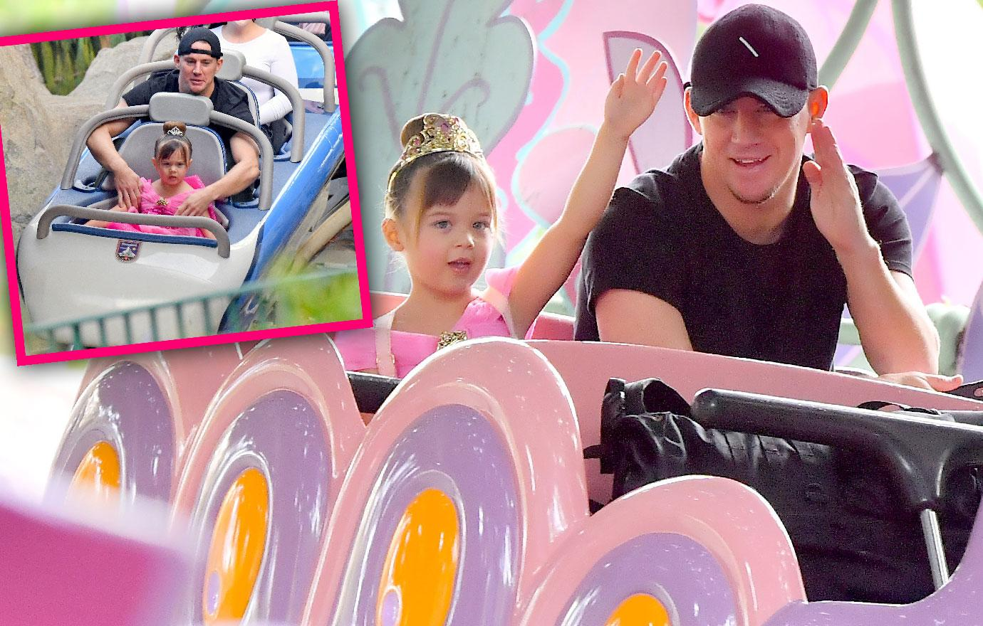 Divorcing Channing Tatum Visits Disneyland With Daughter