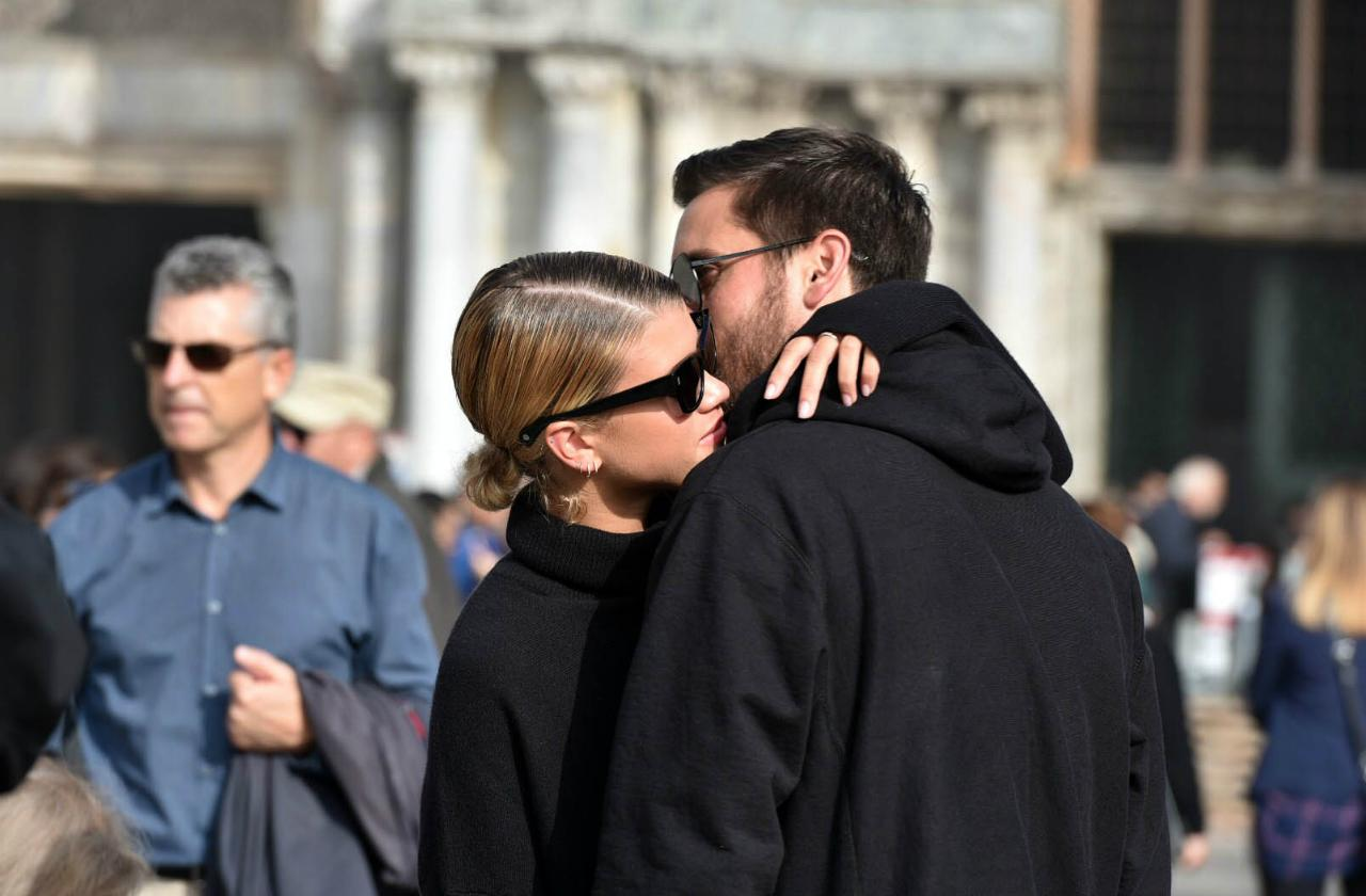 Scott Disick and Sofia Richie Relationship Timeline Hugging in Europe