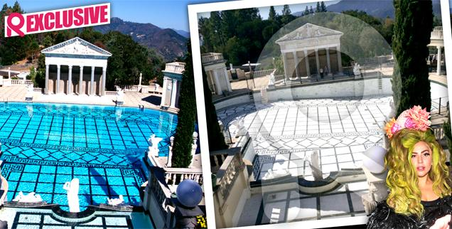 //lady gaga hearst castle video video waste water worst california drought wide