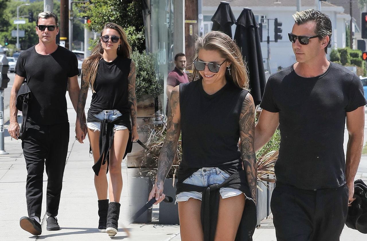 Gavin Rossdale Model Girlfriend Sophia Tomalla Holding Hands