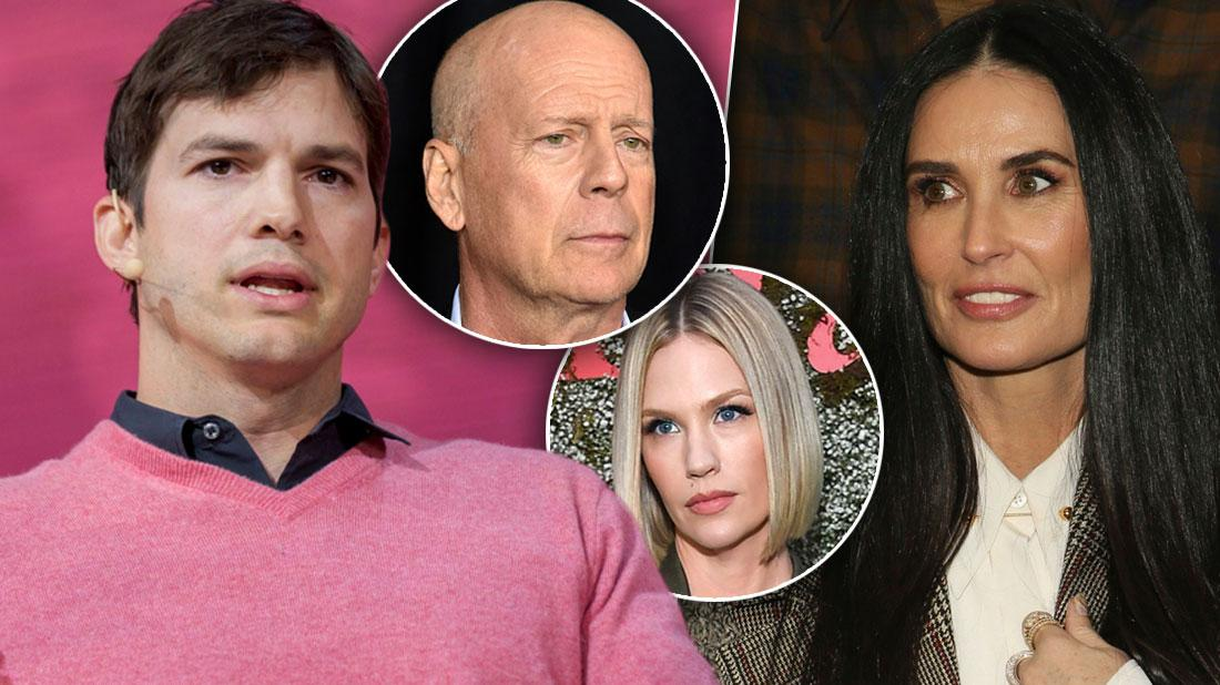 Ashton Kutcher Accused Ex January Jones Of Affair With Bruce Willis, Demi Moore Claims