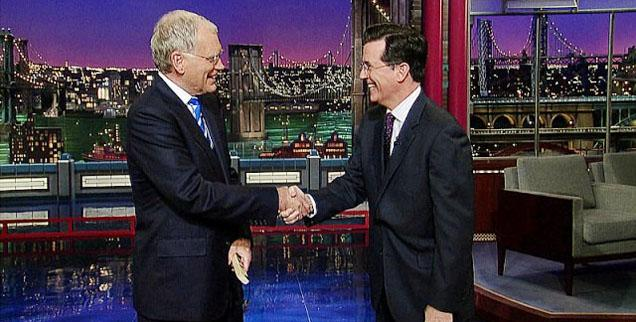 //colbert to replace letterman pp