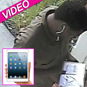 //ups driver steals ipad