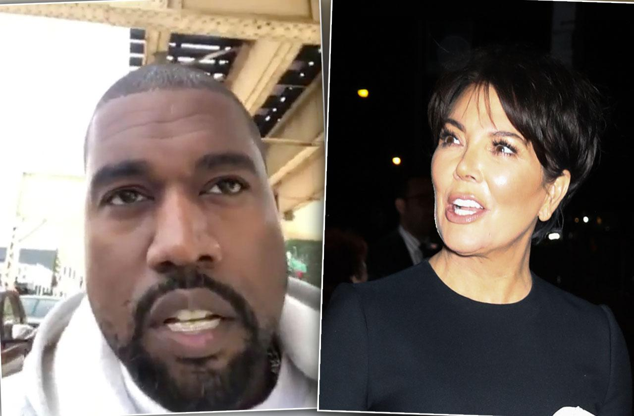 Kanye West Reamed Out By Kris Jenner