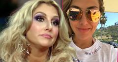 'RHOC' Gina KirschenheiterWearing Star Earrings, Inset Gina Wearing Mirrored Sunglasses And New York City Gray Heathered T-Shirt