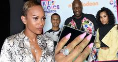 Sabrina Parr Looking Right, Inset Engaement Ring, Inset Lamar Odom and His Kids, Lamar Odom, Lamar Jr. and Destiny
