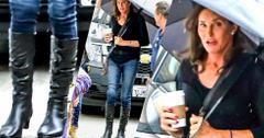 Caitlyn Jenner Walking In The Rain