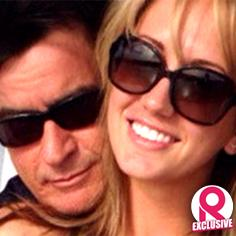 //charlie sheen brett rossi over top engagement party sq