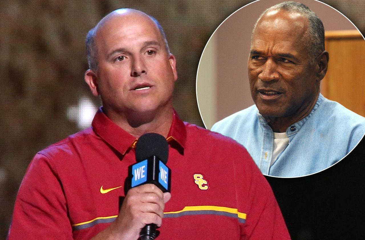 coach clay helton bans oj simpson usc campus