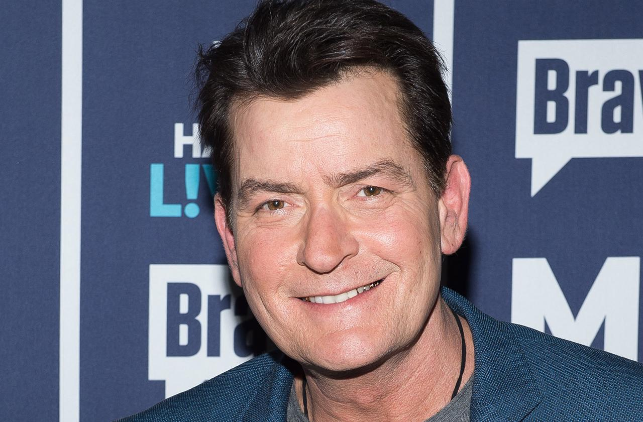 //charlie sheen new much younger girlfriend julia stambler is his soulmate says source pp