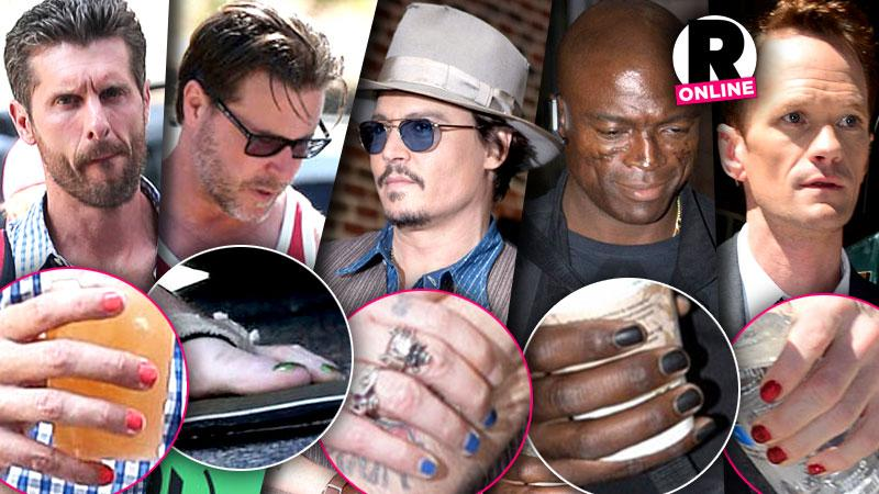 //celebrity men painted nails johnny depp russell brand steven tyler photos pp
