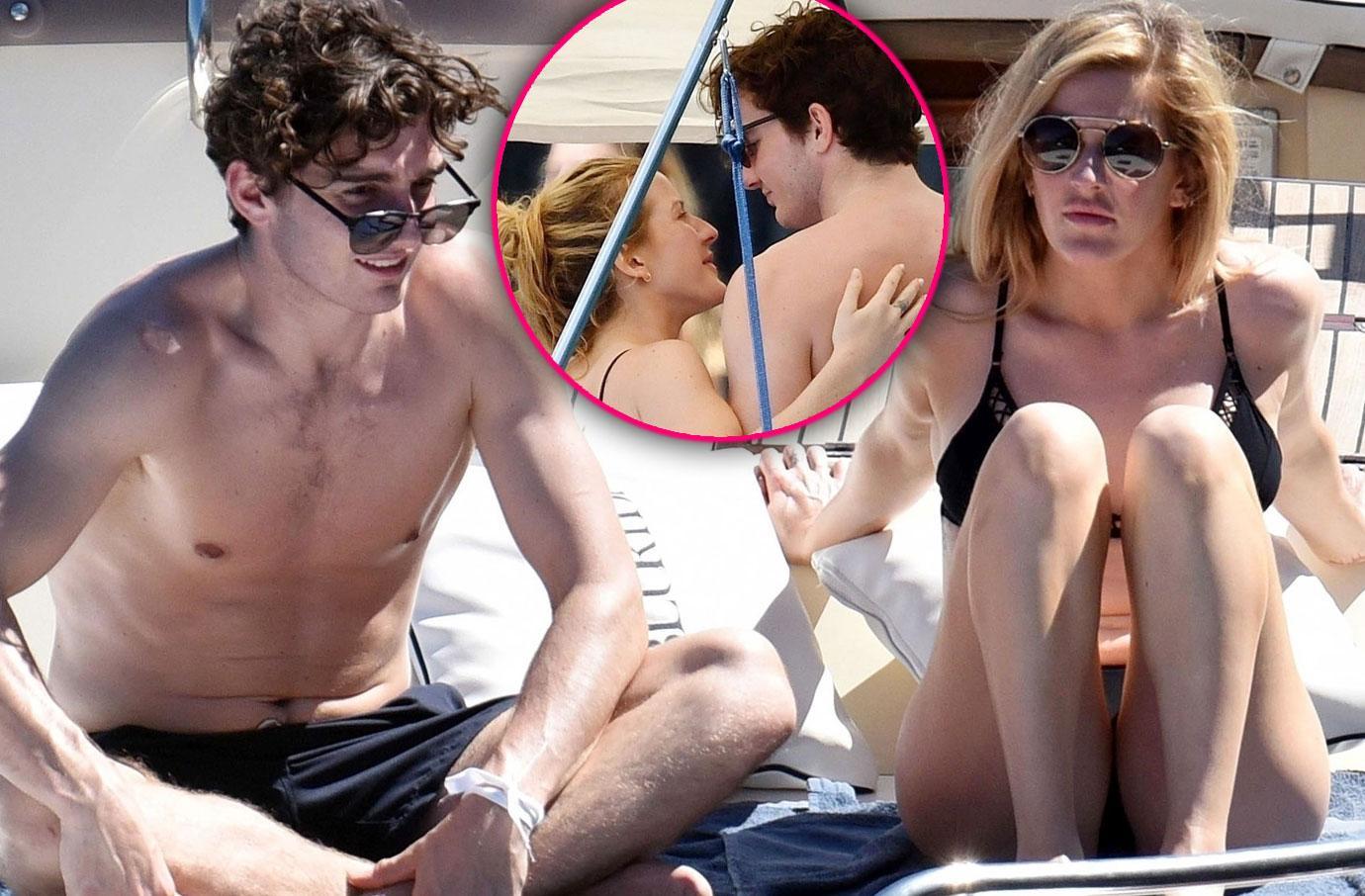 Singer Ellie Goulding Vacations With Boyfriend Caspar Jopling Bikini Pics