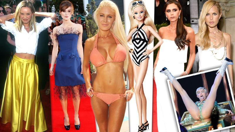 // celebs whom have been accused of promoting unhealthy body images pp sl