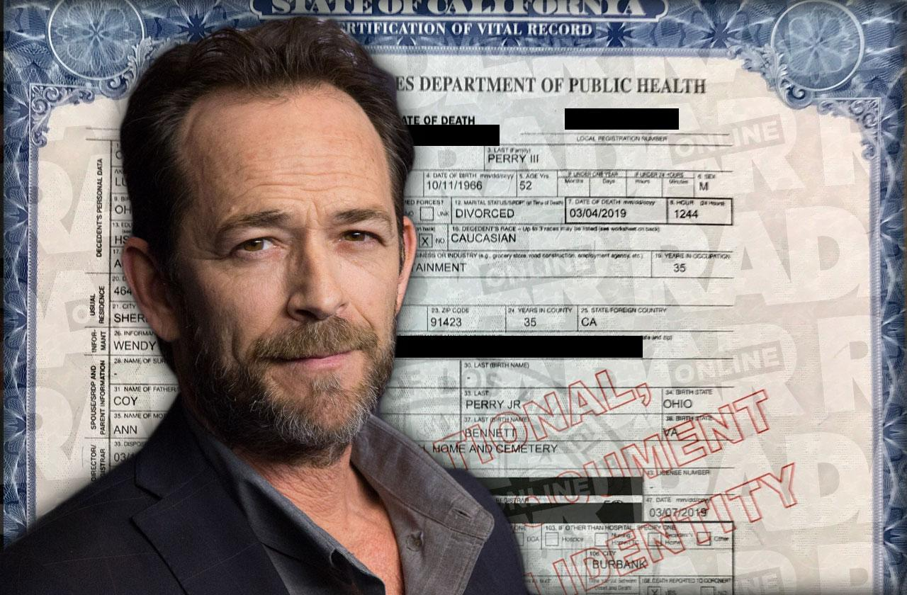 luke perry death certificate buried in tennessee