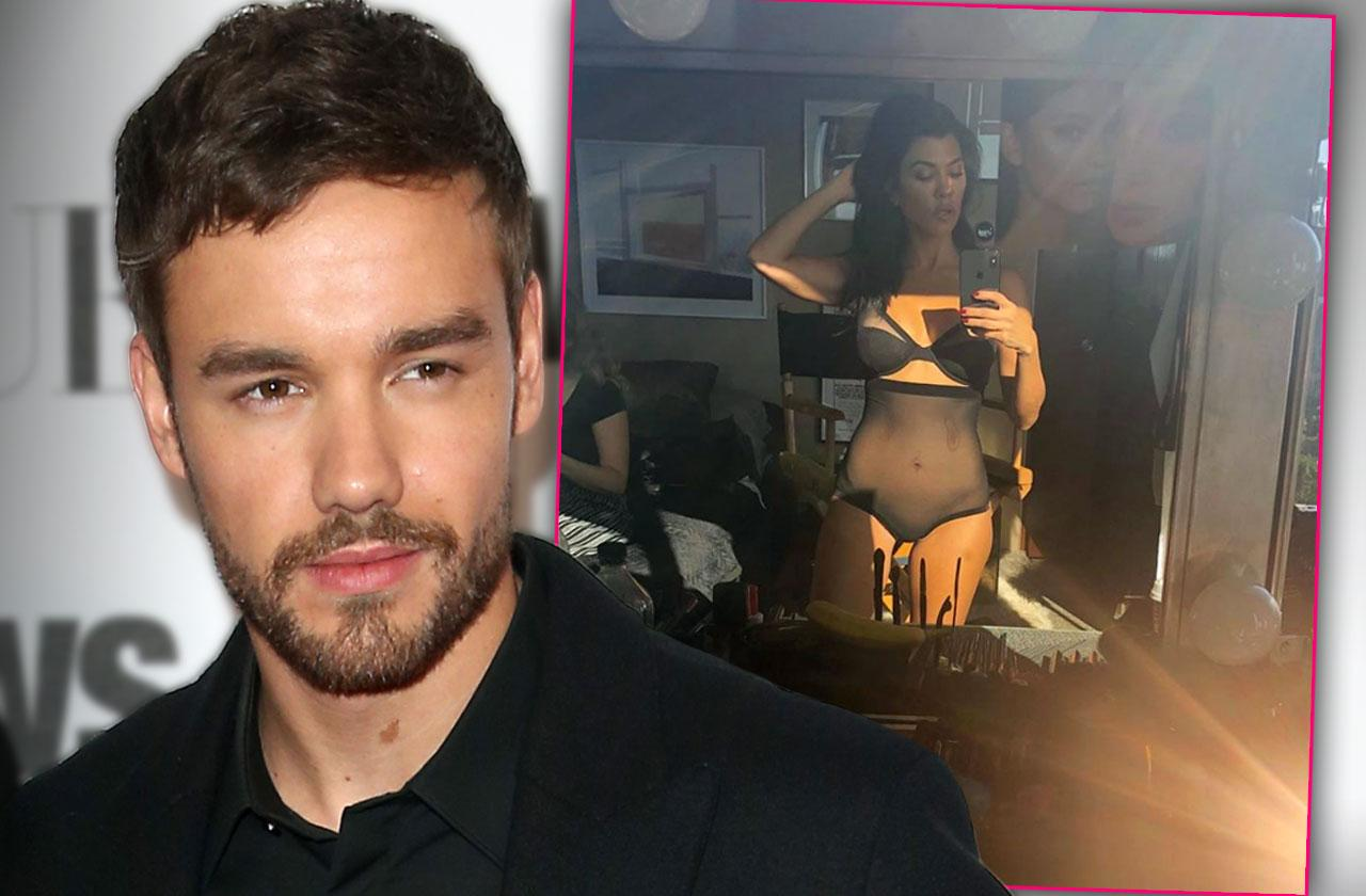 Liam Payne Loves Kourtney Kardashian's See Through Lingerie