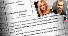 //tamra judge settles simon barney PP SL