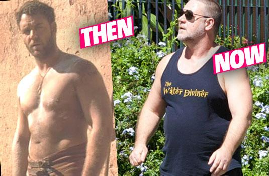 //russell crowe weight gain fat pp