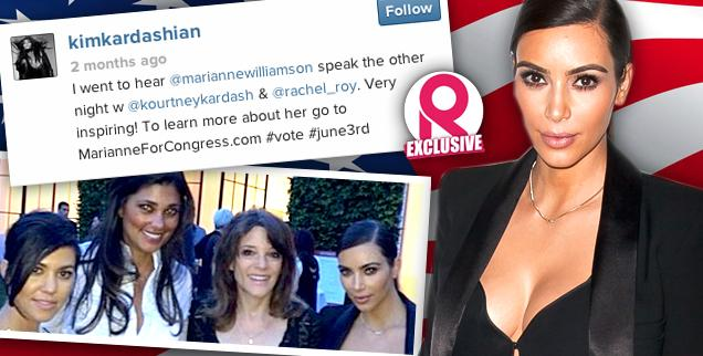//kim kardashian marianne williamson attended event no political donation wide