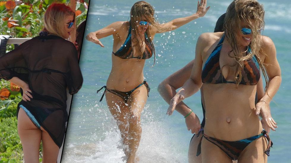 Fergie Bikini Body With Josh Duhamel Palm Beach Florida