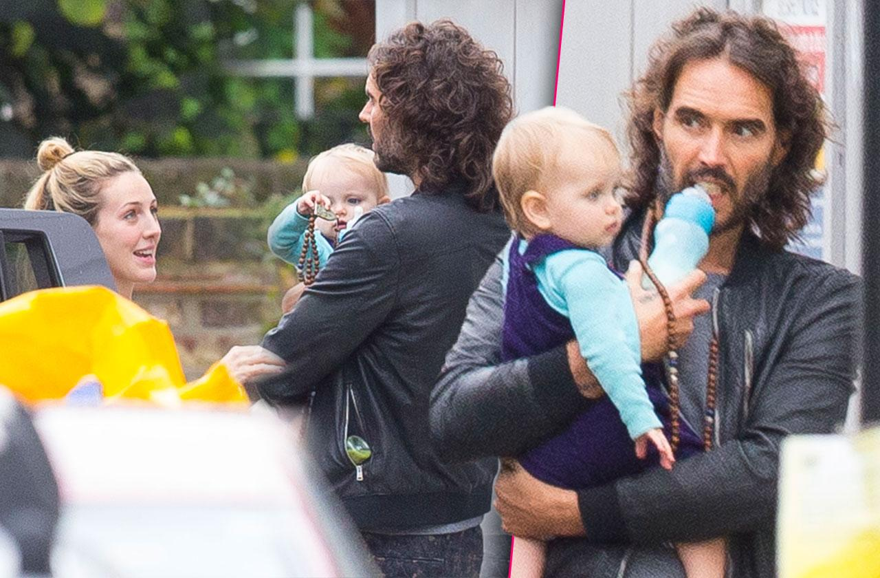 Russell Brand baby daughter photo