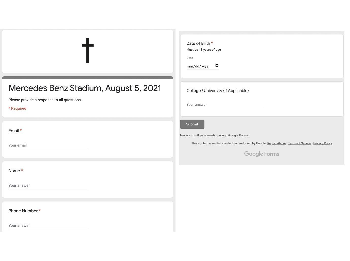 formulário de submissão do Kanye West, recortado