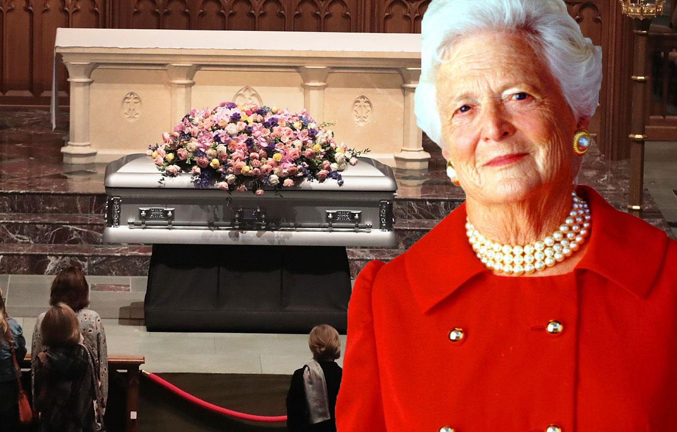 //barbara bush funeral attended by clintons obamas melania trump pp